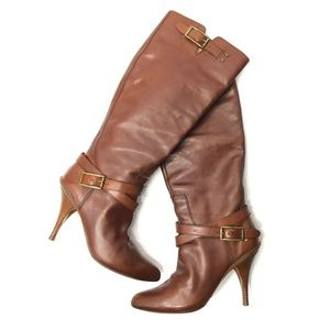 Cole Haan NikeAir Tall Leather Boots Slouchy